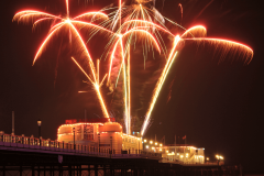 fireworks over the pier